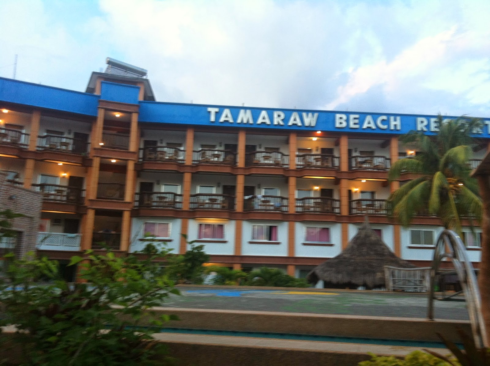 The facade of Tamaraw Beach Resort