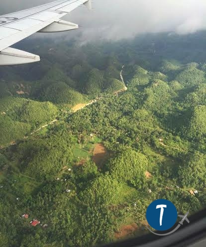 View of Bohol from the Sky.
