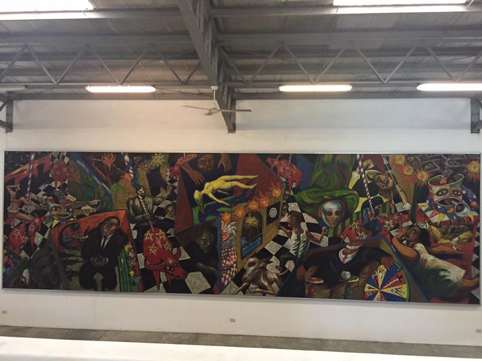 The largest Painting Iside Pinto Art Museum
