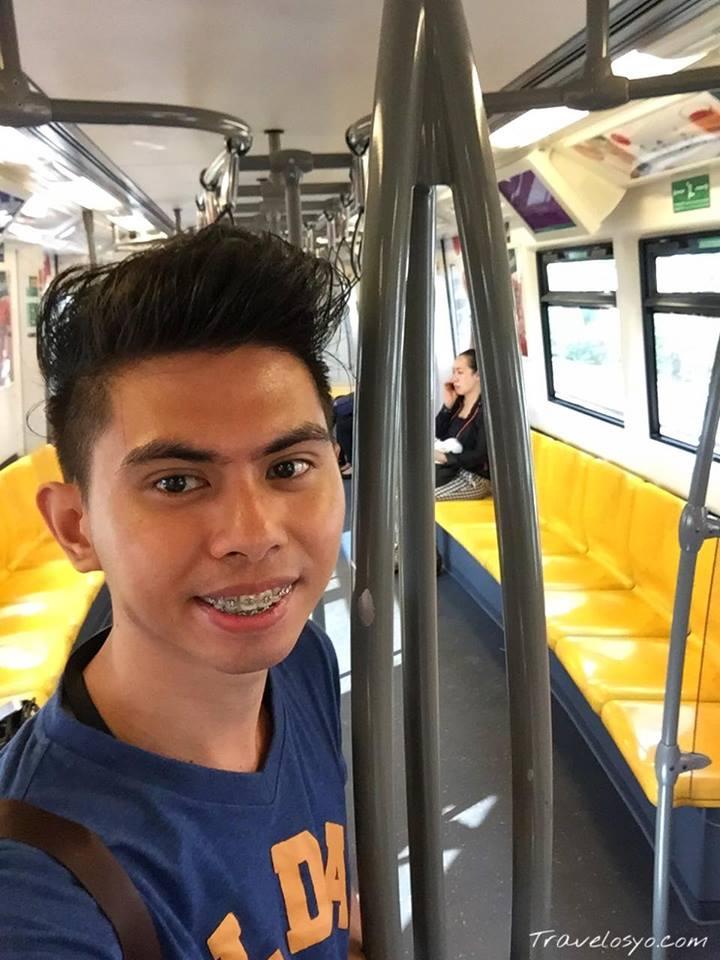 Inside the Skytrain Bangkok